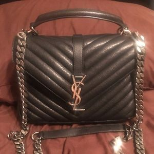 SAINT LAURENT College medium  leather shoulder bag